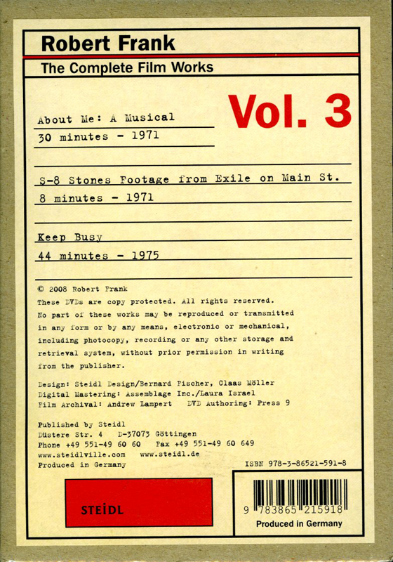 The Complete Film Works Vol 3
