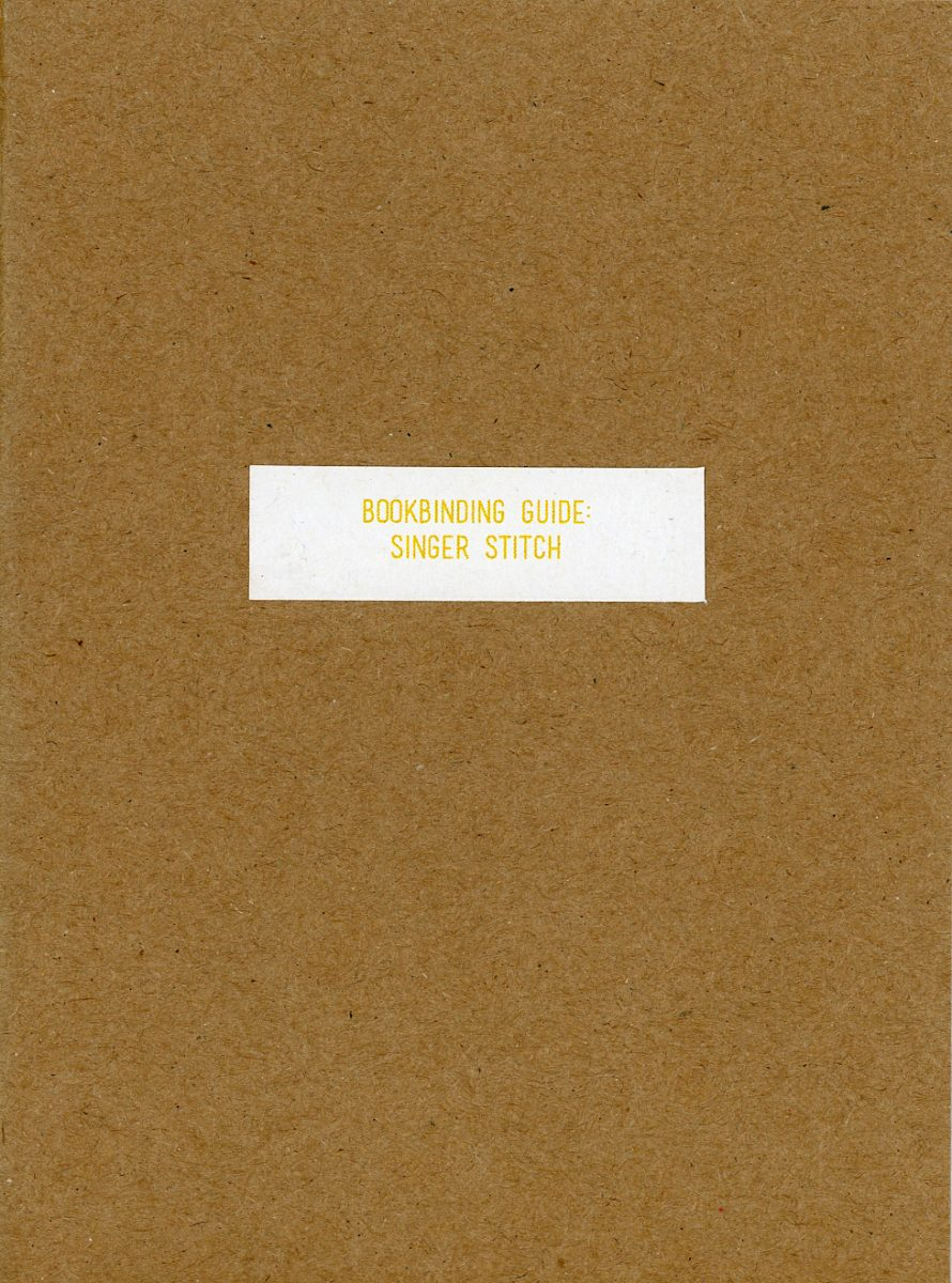 Bookbinding Guide: Singer Stitch by Read That Image